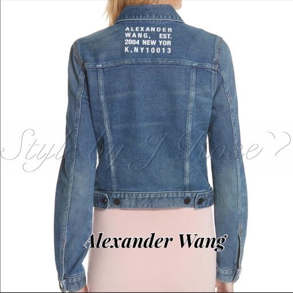 Alexander Wang Jackets & Blazers - NWT's Alexander Wang Graphic Denim Jacket